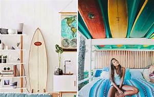 Planche Surf Deco : 20 int ressantes fa ons d 39 utiliser une planche de surf comme d coration joli joli design ~ Teatrodelosmanantiales.com Idées de Décoration