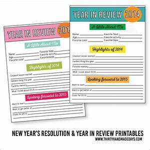 20 new years free printables lolly jane for Year end review template