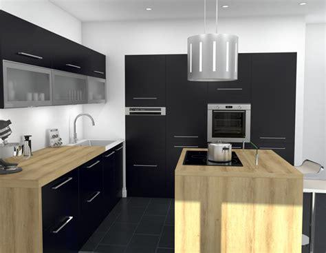 cuisine noir mat ikea best ilot cuisine design images awesome interior home