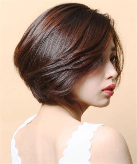 gorgeous short layered bob asian hairstyles   women