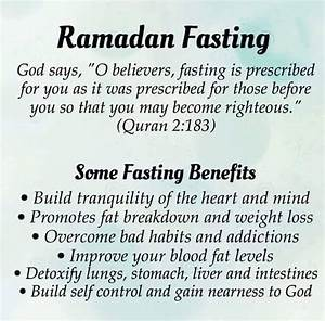 Ramadan Fasting & Some Fasting Benefits ! Read Here