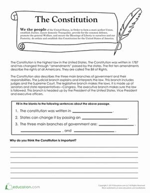 4th grade civics government worksheets free printables