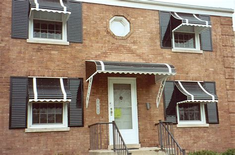 House Awnings Aluminum Updated Before After Window, Metal