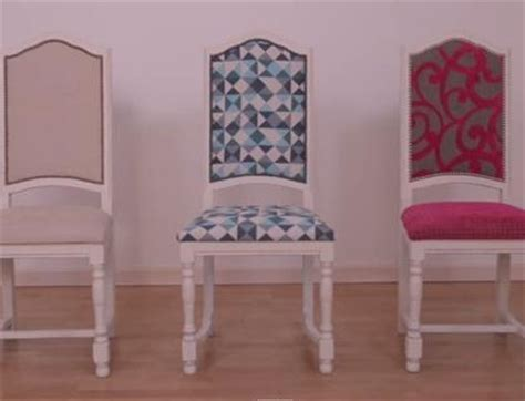 comment recouvrir des chaises diy recouvrir une chaise pop couture