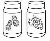 Peanut Clipart Butter Coloring Jelly Jar Grape Cartoon Bing Valentines Girlscoloring Clipground Worksheet Bulkcolor sketch template