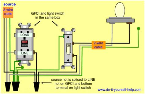 Gfi Breaker Diagram by Gfci Light Switch And Electrical Wiring Diagram