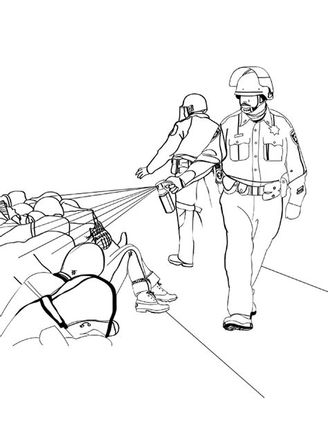 Police brutality coloring book. A lesson in reality