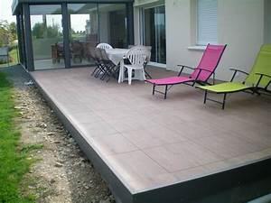 Terrasse Sur Plot : dalles linires carrelages angers 49 pose de terrasse sur ~ Melissatoandfro.com Idées de Décoration