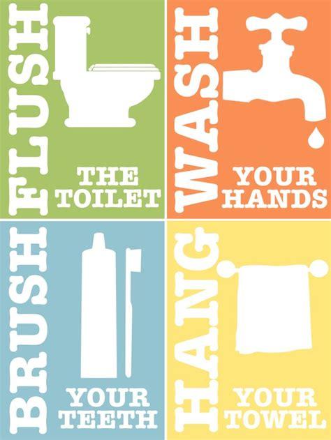 Kids+bathroom+rules+set+of+4+printable+art+by