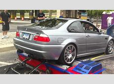 2006 BMW e46 M3 Dyno headers, resonated xpipe, DINAN