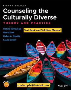 Counseling The Culturally Diverse Theory And Practice 8th