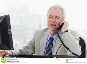 Senior Manager On The Phone Stock Image