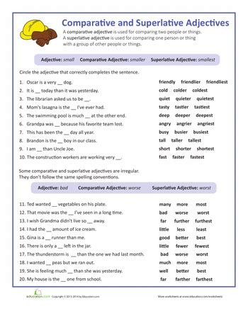 adjectives that compare grade wonders unit 5