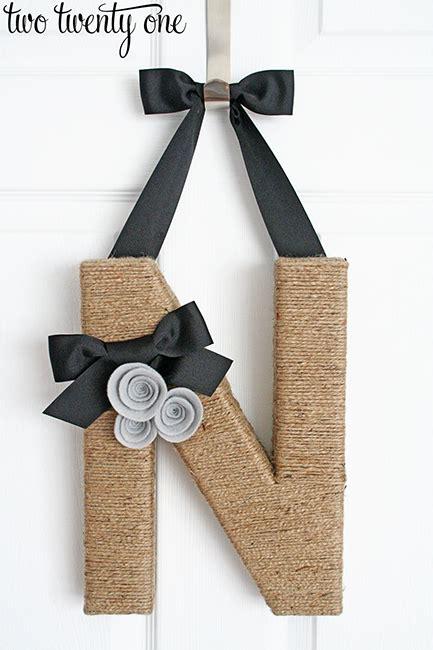 jute wrapped monogram wreath diy  twenty