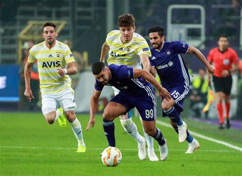 Fenerbahçe Anderlecht MaÇ Sonucu Ve MaÇ Özetİ! Fenerbahçe