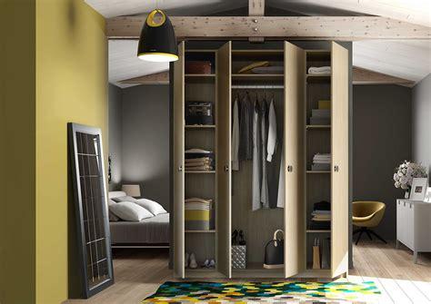 chambre design gris armoire dressing sur mesure centimetre com