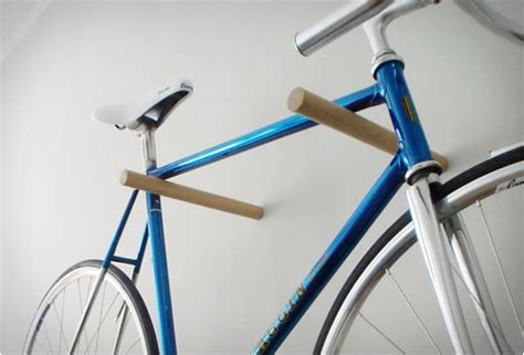 Minimal Wooden Bike Hook