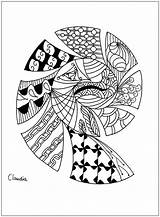 Coloring Pages Zentangle Simple Print Adult Adults Claudia Zentangles Hard Drawing Printable Coloriage Thanks Justcolor Dragons Children Nggallery Word sketch template