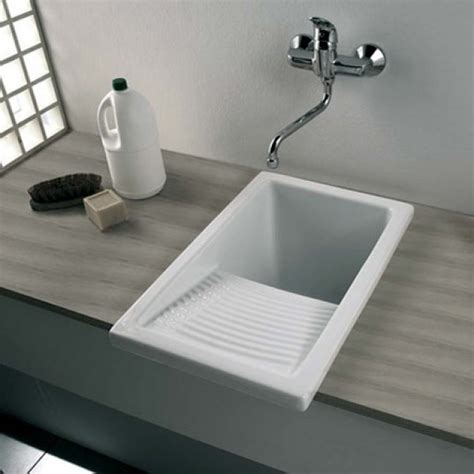 ceramic laundry tub with washboard clearwater ceramic utility laundry sink inc waste small