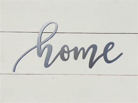 Home Metal Word Sign By Thewordsmithstudio On Etsy