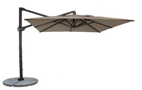 fiberbuilt 10ft cantilever umbrella with sunbrella fabric
