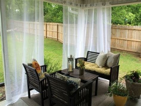 embellish your outdoors with ikea outdoor curtains