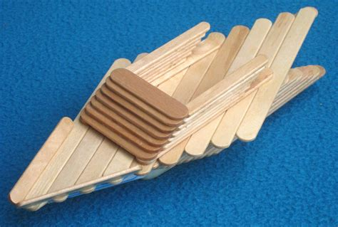How To Make A Boat Using Craft Sticks by Popsicle Stick Boat With Submarine Motor Diy Family