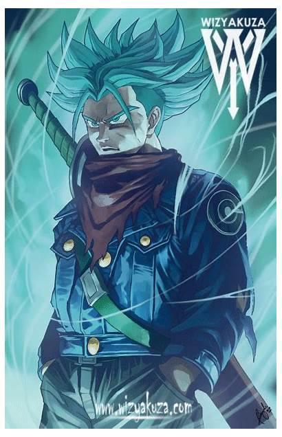 Wizyakuza Anime Gifs Super Trunks Saiyan Mirai