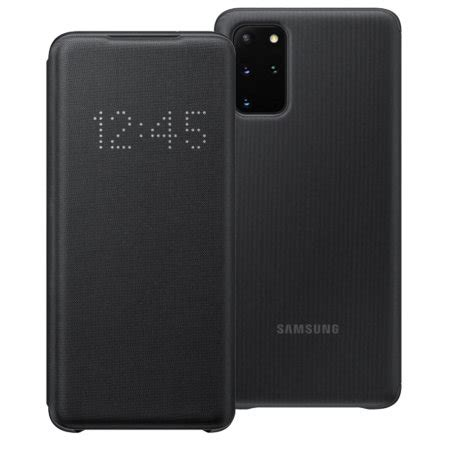official samsung galaxy   led view cover case black