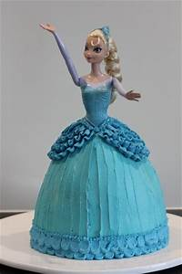 elsa cake buttercream tutorial and an ice themed With gateau robe barbie