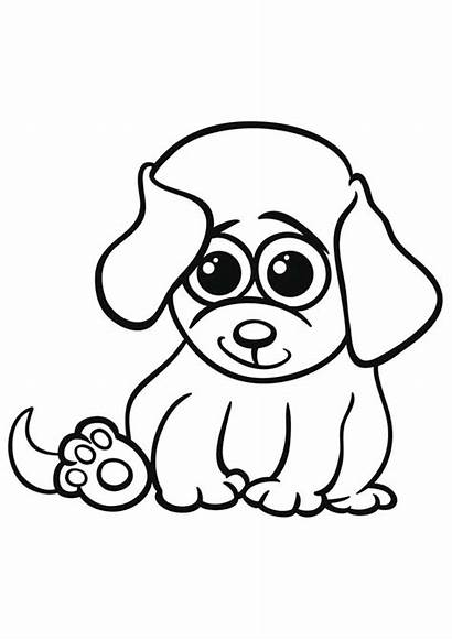 Coloring Pages Puppies Printable Dogs Clipart Animal