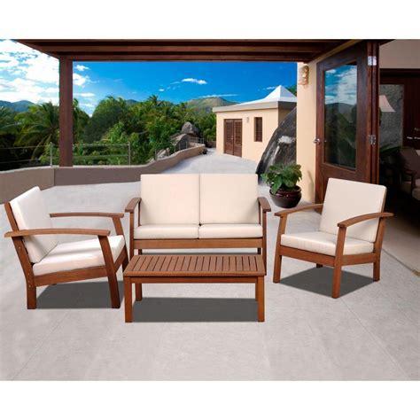 patio conversation sets amazonia murano 4 eucalyptus patio conversation set