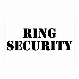 9 4079 black ring security wedding ring bearer black With security iron on letters