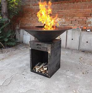 Customized, Outdoor, Cooking, Corten, Steel, Bbq, Grills