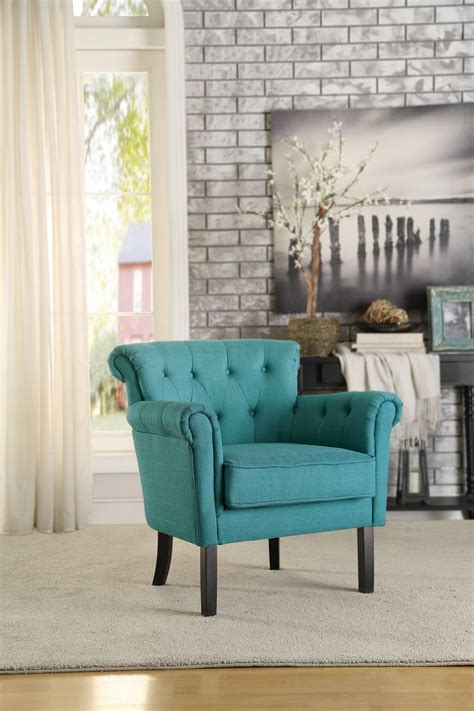 homelegance barlowe accent chair teal 1193f5s at