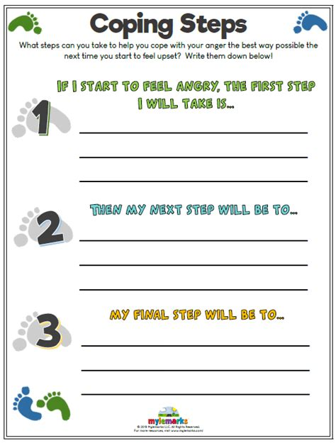 therapeutic worksheets  kids  teens