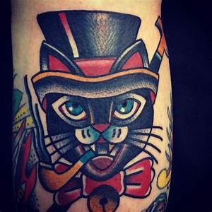 Cat tattoo // Dani Queipo   Nautical and traditional ...