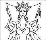 Queen Coloring Snow Designlooter sketch template