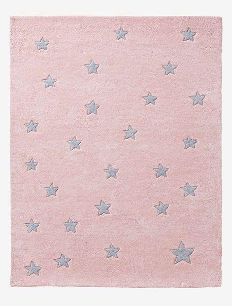 Kinderzimmer Mädchen Verbaudet by Kinderteppich Mit Sternen Grau Sterne Rosa Sterne