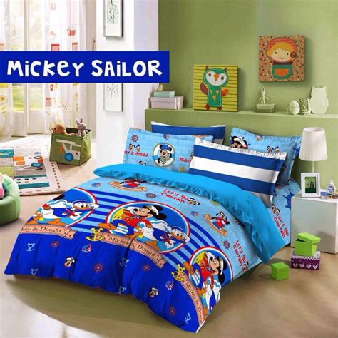 Sprei Katun Mickey sprei dan bedcover motif anak anak toko bunda