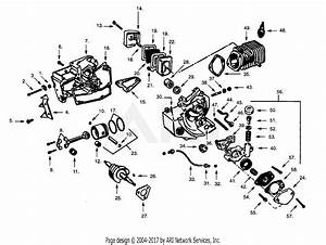 Poulan S25da Gas Saw Parts Diagram For Power Unit