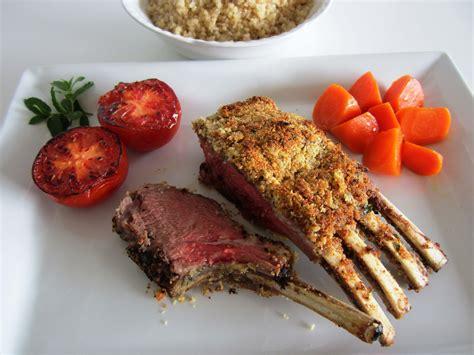 lamb rack cheese recipe dishmaps fae herbed breadcrumb coated pork double stuffed magazine