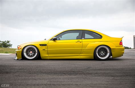 Widebody Phoenix Yellow Bmw E46 M3 Bagged And Modified