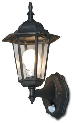 outdoor wall mount lantern with pir motion detect sensor