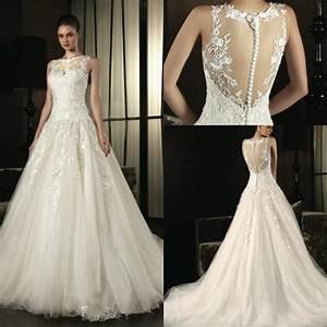 robe de mariage 2015 romantic a line wedding dresses With robe de mariée wish