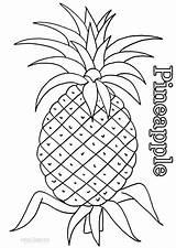 Coloring Pineapple Printable Fruit Cool2bkids Pineapples Cartoon Colors sketch template