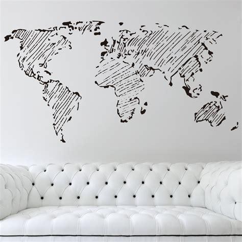 vinilo decorativo mapa mundi lineas vinilo paredes salon