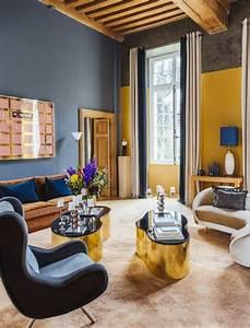 Décoration Salon Jaune Moutarde : deco chambre jaune moutarde et gris ~ Melissatoandfro.com Idées de Décoration