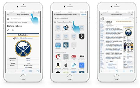 is safari on iphone how to view the desktop version of a website in ios 8 safari