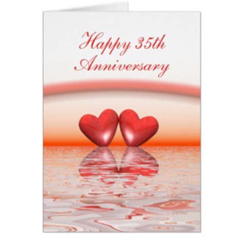 buy 35th birthday wedding anniversary coral wedding anniversary cards photo card templates